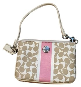 Coach Wristlet in Pink And White