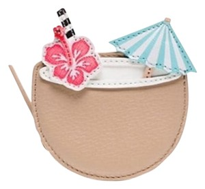 Kate Spade Limited CUTE Kate Spade Coconut Umbrella Flower Coin Purse Wallet bag