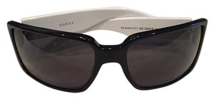 Gucci gucci black and white sunglasses