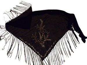 India Embellished / Fringed Evening Shawl / Scarf ( New)