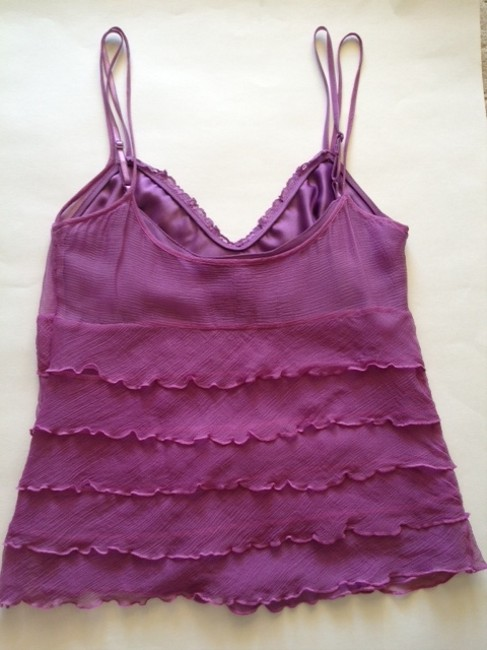 Laundry by Shelli Segal Silk Top Purple Image 1