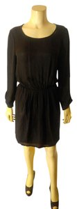 Joie short dress black Silk Size Medium on Tradesy