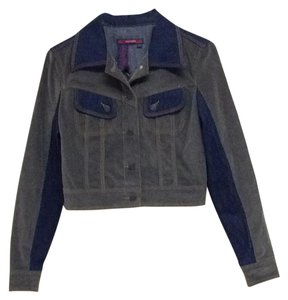 BCBGMAXAZRIA Blue, gray Womens Jean Jacket