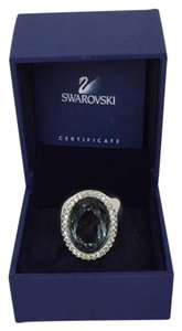 Swarovski SWAROVSKI Size 6 Blue Stone Cocktail Ring!
