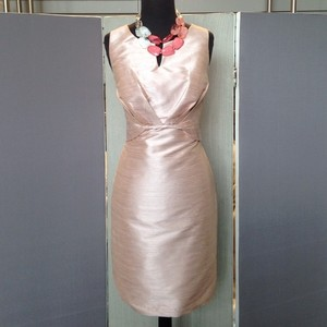 Alexia Designs Pearl Pink Shantung Bridesmaid/Mob Dress Size 12 (L)