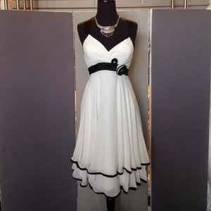 Alexia Designs Ivory With Black Dress