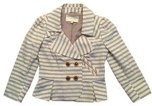 Leifsdottir Cream and light blue stripes Blazer