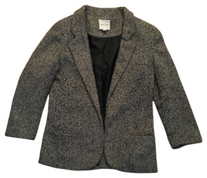 Silence + Noise Black/grey herringbone Blazer