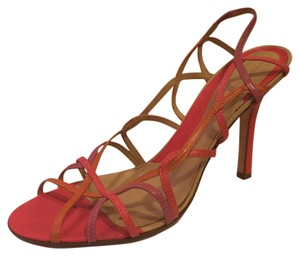 BCBGMAXAZRIA Strappy Multicolored Stiletto Pink multi Sandals