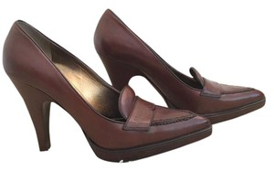 Prada Brown Leather Cognac Pumps