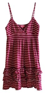 Victoria's Secret short dress Maroon/Pink Ruffles Pink Cotton on Tradesy