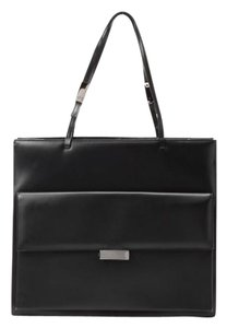 Gucci Leather Tote in Black Leather