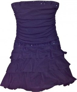 City Triangles Tiered 3 Tier Bottom Bead Dress