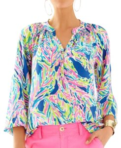 Lilly Pulitzer Top Indigo