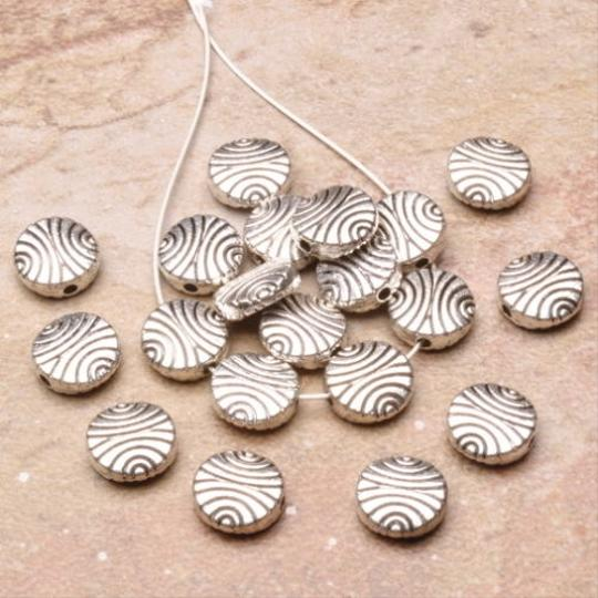 Unknown 20PCS COIN SPACERS FINDINGS 2X8MM 925 SILVER PLATED OVER SOLID COPPER DIY your lovely JEWELRY
