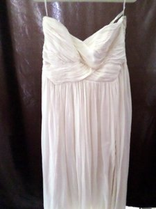 Designer clothing and accessories up to 90 off at tradesy ann taylor cream strapless goddess gown feminine wedding dress size 14 l junglespirit Image collections