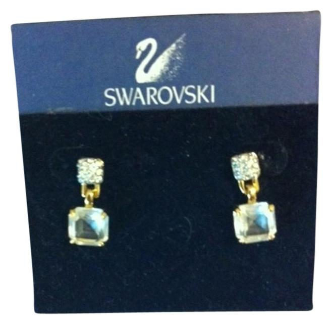 Item - Yellow Goldtone W/Crystals 14k Gold Post Earrings