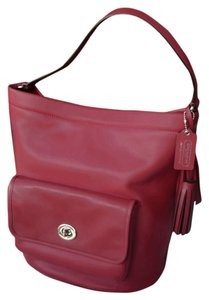Coach Cherry Legacy Bucket Bonnie Tote in red
