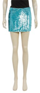 HauteHippie HauteHippie Aquamarine Sequin Mini Skirt (Size XS)