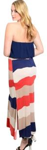 Multi Color Maxi Dress by Boutique Branded