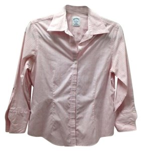 Brooks Brothers Summer Fall Button Down Shirt Pink
