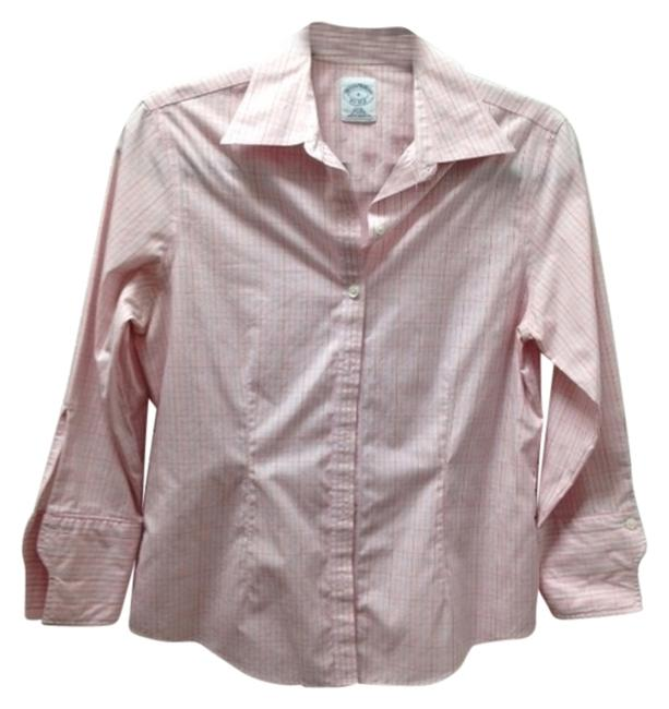 Brooks Brothers Spring Summer Fall Button Down Shirt Pink