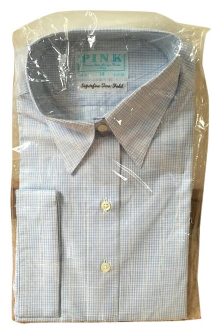 Preload https://img-static.tradesy.com/item/18210484/thomas-pink-bluewhite-check-tradition-button-down-top-size-12-l-0-1-650-650.jpg