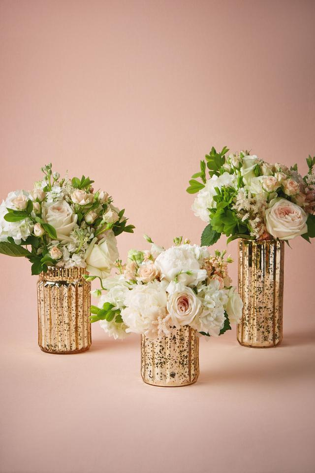 Awe Inspiring Bhldn Gold Fluted Mercury Vases M Centerpiece 9 Off Retail Home Interior And Landscaping Ologienasavecom