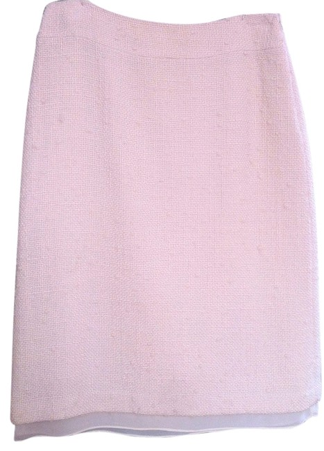 Banana Republic Winter Cream Wool Skirt Winter White