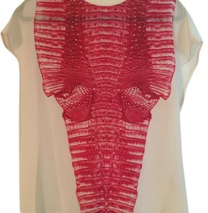 Dion Lee Top White/ Red