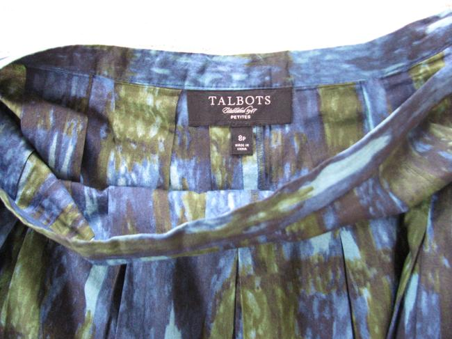 Talbots Skirt Green/Blue/Black Image 1
