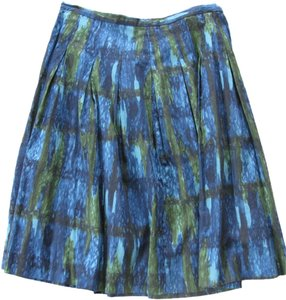 Talbots Skirt Green/Blue/Black