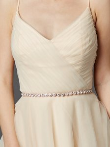 Mariell Rose Gold Bridal Belt With Genuine Preciosa Crystals 4464bt-rg-i