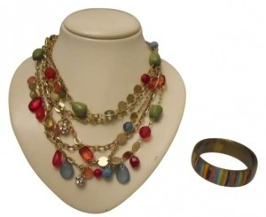 Mix It Multi chain necklace and bangle bracelet
