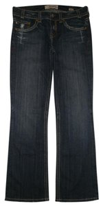 MEK DNM 5 Pocket Style Zip Fly Flap Pockets Cotton/spandex Boot Cut Jeans-Dark Rinse