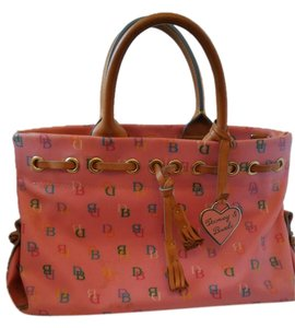 Dooney & Bourke Leather Monogram Pink Clutch
