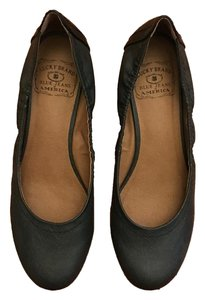 Lucky Brand Wedge Flat Faux Leather Black Wedges