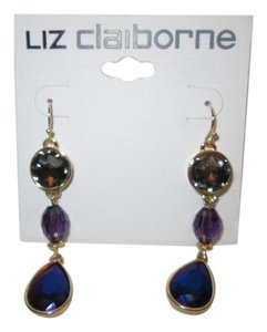 Liz Claiborne Liz Claiborne Blue/purple, long dangling Earrings NWT/never used