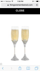 Things Remembered Fifth Avenue Toasting Flutes
