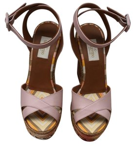 Valentino Multicolor/Light Pink Wedges