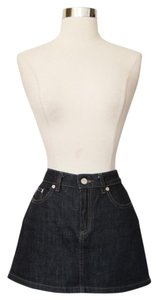 Marc by Marc Jacobs Micro-mini High Waisted Denim Skirt Blue