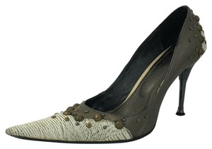 JUNO New York White and bronze Pumps