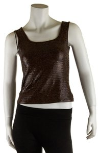 Darjoni Cotton Sequin Top Brown