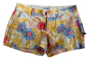 Old Navy Floral Tropical Mini/Short Shorts Floral Multi