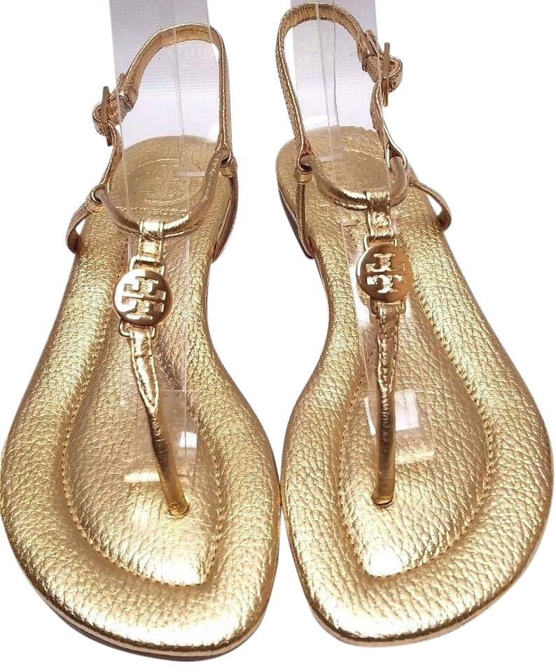 157d56f4259 Tory Burch Gold Metallic Emmy Sandals. Size  US 5 Regular (M ...