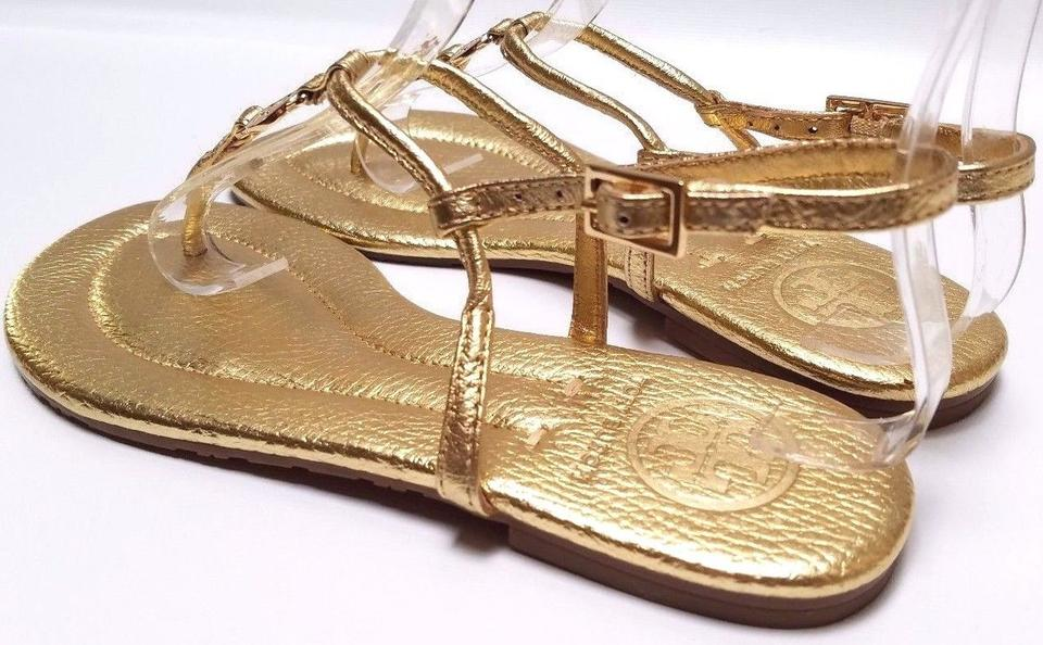 26d51b22dad Tory Burch Gold Metallic Emmy Sandals Size US 5 Regular (M