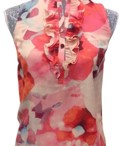 Ann Taylor LOFT Top Coral orange pink