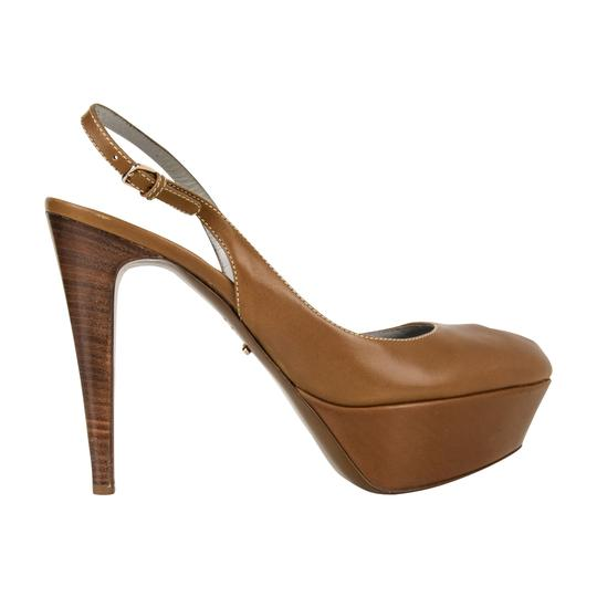 Sergio Rossi Khaki Leather Brown Platforms Image 1