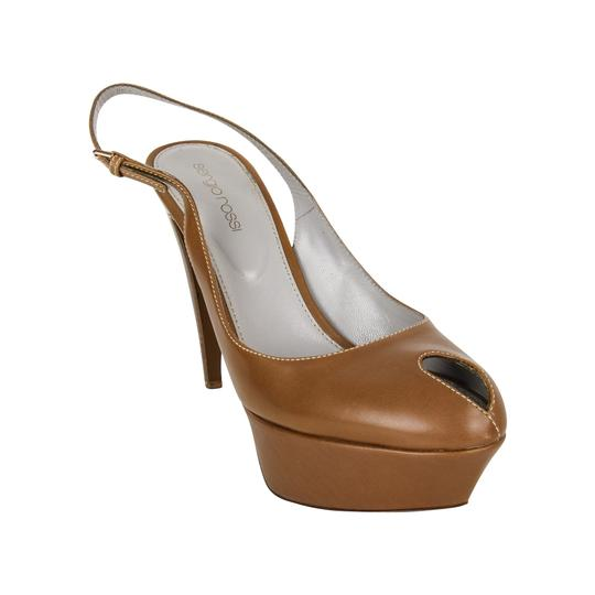 Sergio Rossi Khaki Leather Brown Platforms Image 2