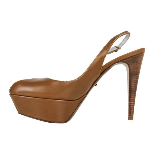 Sergio Rossi Khaki Leather Brown Platforms Image 4